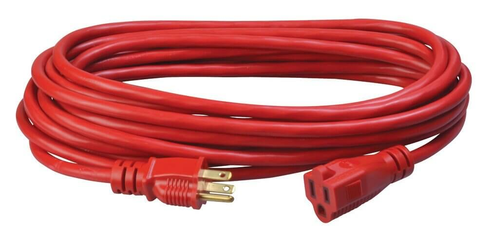 Coleman Cable 02407 14/3 SJTW Vinyl Outdoor Extension Cord