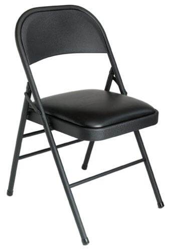 Folding Chair – Black Vinyl